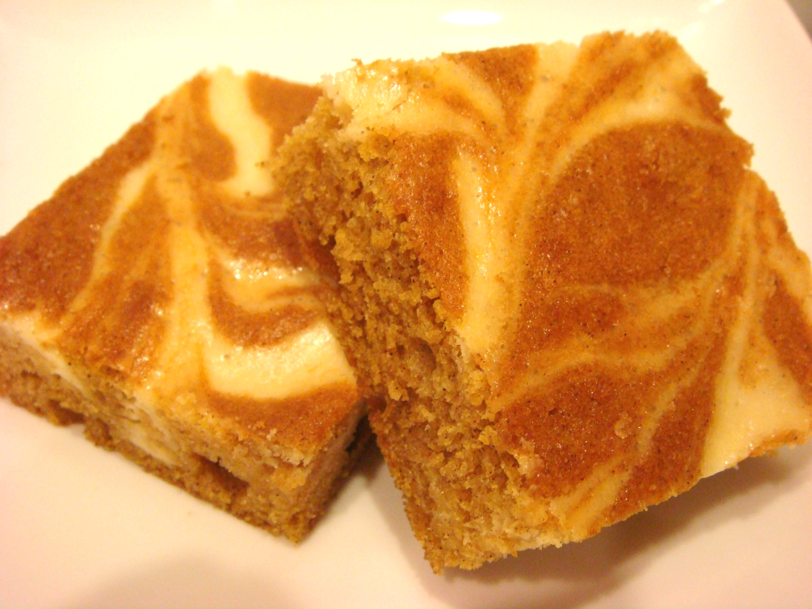 Marbled Pumpkin Cheesecake Bars Recipe | No Empty Chairs