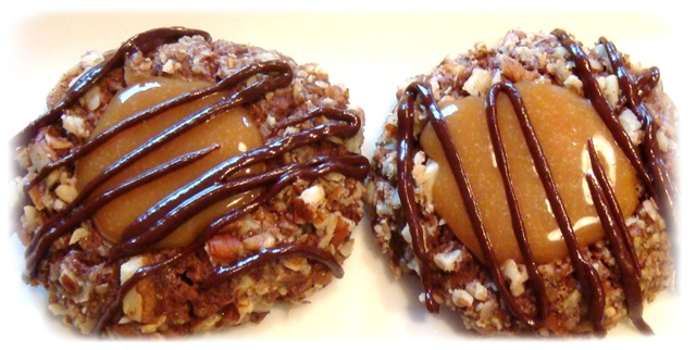 thumbprints dulce de leche and nutella thumbprints chocolate caramel ...