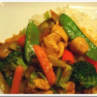 Chicken Stir-Fry in Peanut Sauce