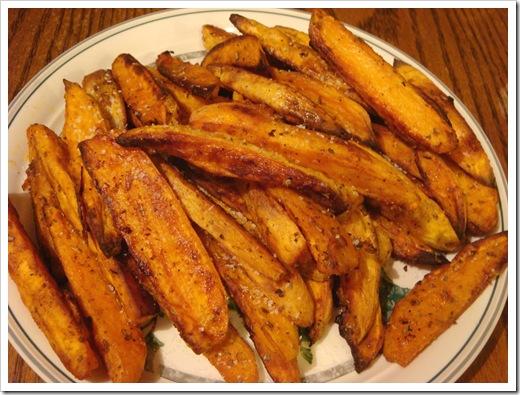 Roasted Sweet Potato Wedges with Cilantro Yogurt Dip | No Empty Chairs
