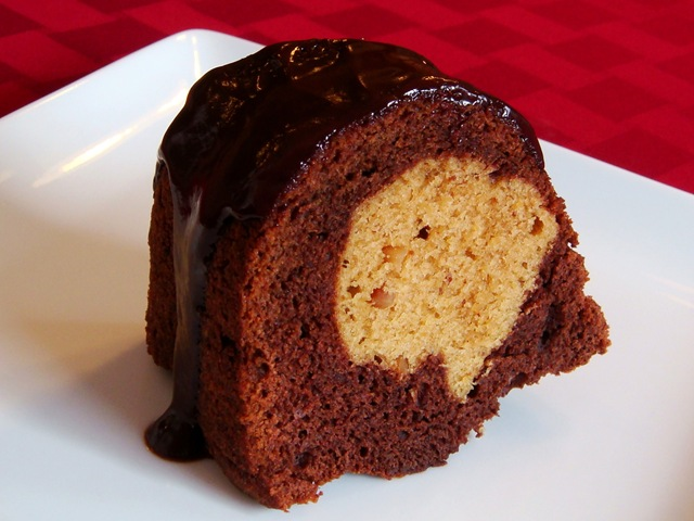 Chocolate Peanut Butter Bundt Cake | No Empty Chairs