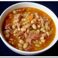 Southwestern Ham and White Bean Soup