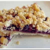 Twelve (More) Days of Christmas Cookies: Raspberry Crumb Bars
