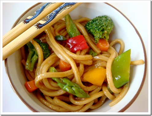 Chinese Vegetable Lo Mein | No Empty Chairs