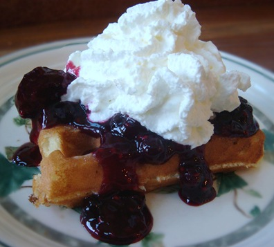 ... our Double Chocolate Waffles , we had these Lemon Yogurt Waffles