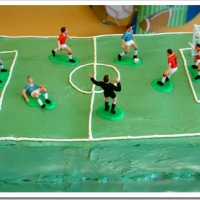 Soccer Cake with Swiss Meringue Buttercream Icing