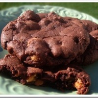 Twelve Days of Christmas Cookies: Chocolate Buttermilk Cookies with Peanut Butter Chips