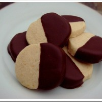Twelve Days of Christmas Cookies: Chocolate Dipped Orange Shortbread Cookies