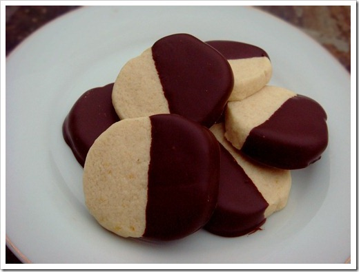 ... Cookies: Chocolate Dipped Orange Shortbread Cookies | No Empty Chairs
