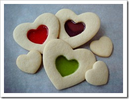 Stained Glass Valentine Cookies 1