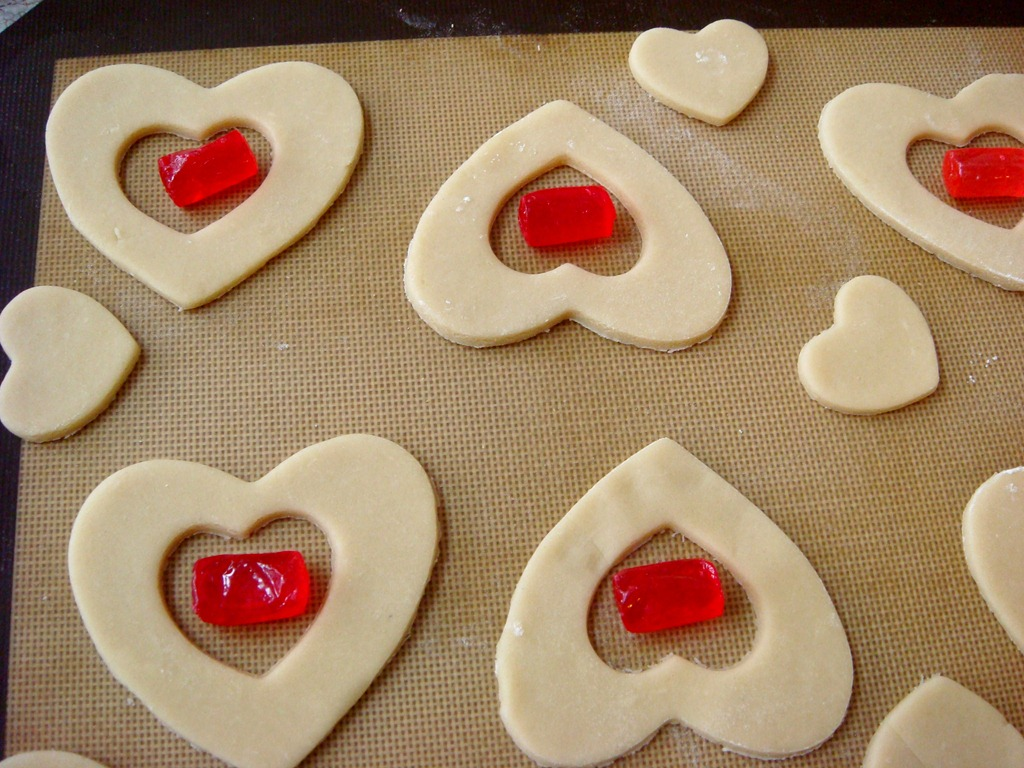 Valentine cookies for kids images for Stained glass cookie recipe