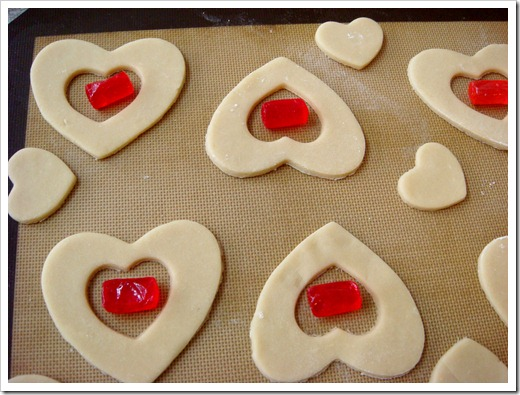 Stained Glass Valentine Cookies 3