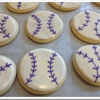 Softball (or Baseball) Cookies
