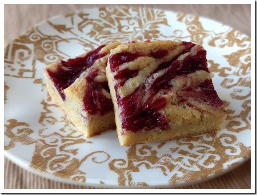 Raspberry Blondies 1