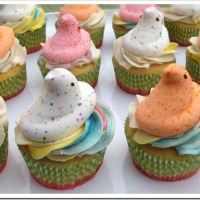 Peeps Cupcakes (with a Surprise)