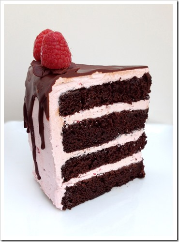 Chocolate Raspberry Truffle Cake 4