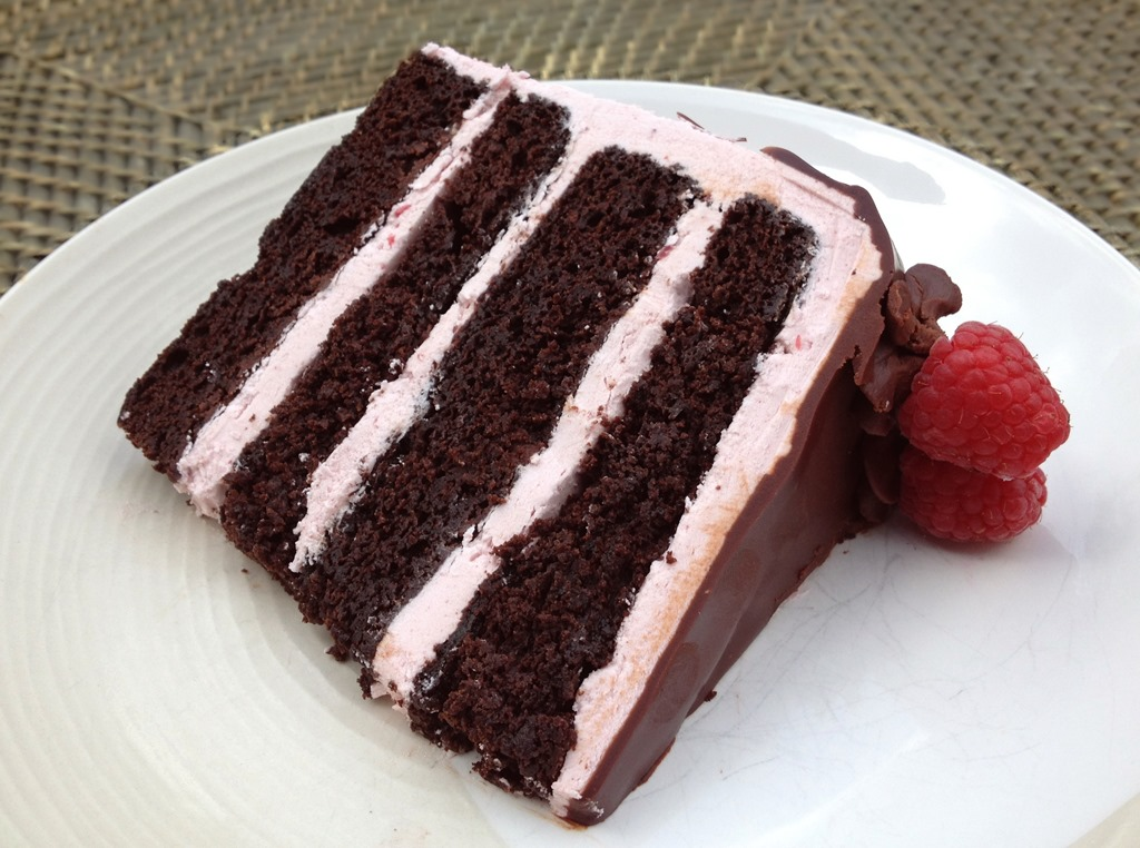 Chocolate Raspberry Truffle Cake 5