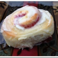 Lime Glazed Raspberry Sweet Rolls