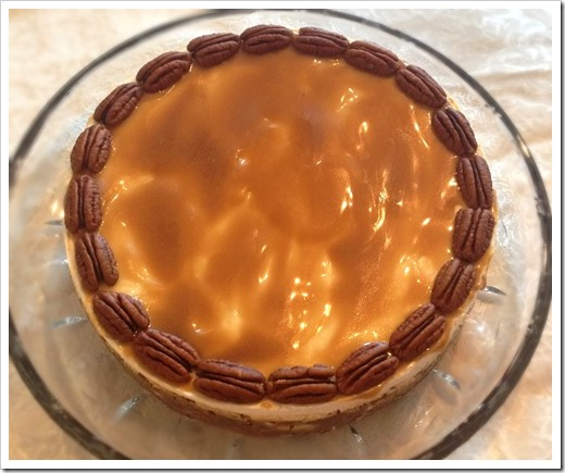 Layered Pumpkin Cheesecake with Butterscotch Sauce 2