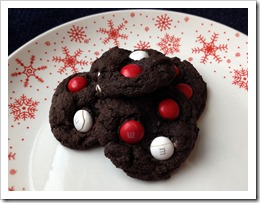 Chocolate Peppermint M&M Cookies 1