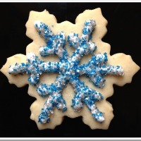 Twelve Days of Christmas Cookies: Frozen-Inspired Snowflake Sugar Cookies