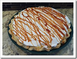 Banana Cream Pie with Salted Caramel Sauce