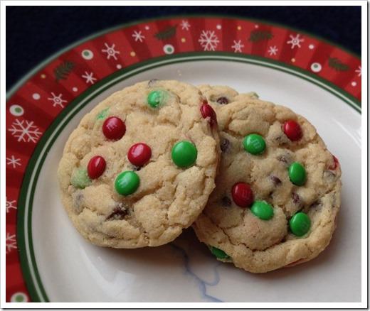 Christmas M&M Cookies