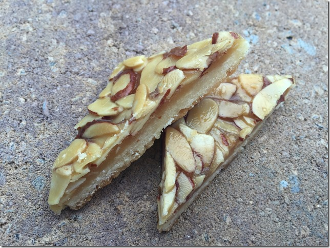 Almond Toffee Triangles