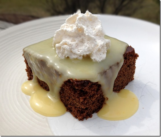Gingerbread with Lemon Sauce and Cinnamon Whipped Cream 2