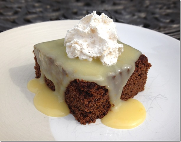 Gingerbread with Lemon Sauce and Cinnamon Whipped Cream 4