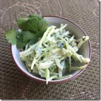 Creamy Cilantro Coleslaw 1