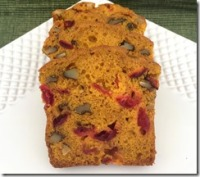 Pumpkin Cranberry Bread 2