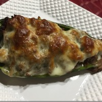 Cheesesteak Stuffed Poblano Peppers