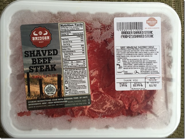 Shaved Beef Steak