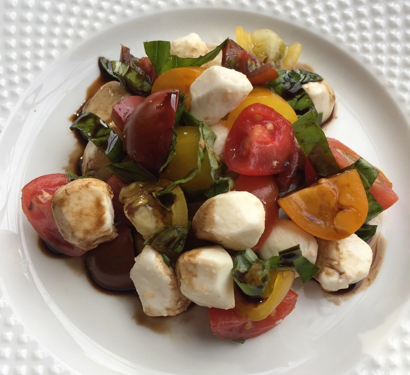 Chopped Caprese Salad With Balsamic Reduction