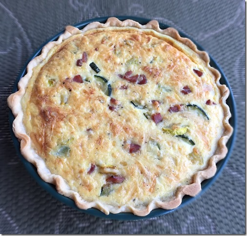 Ham and Zucchini Quiche 2