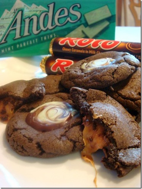 Andes and Rolo Cookies