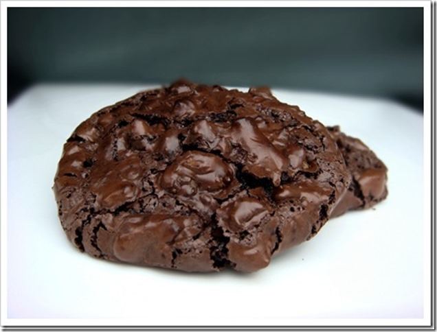 Chocolate Walnut Puddle Cookies