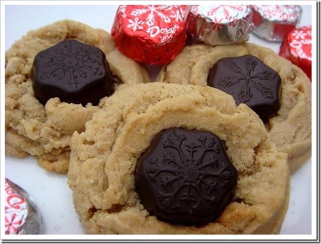 Peanut Butter Snowflake Cookies