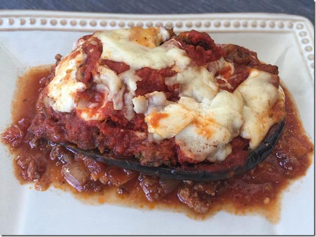Sausage Stuffed Eggplant Parmesan 5
