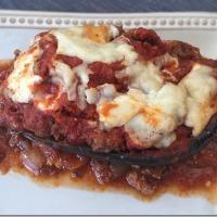 Chorizo Stuffed Eggplant Parmesan