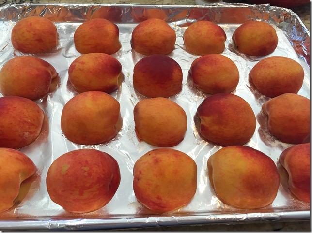 Freezing Peaches 1