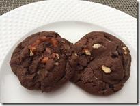 Chocolate Caramel Pretzel Cookies
