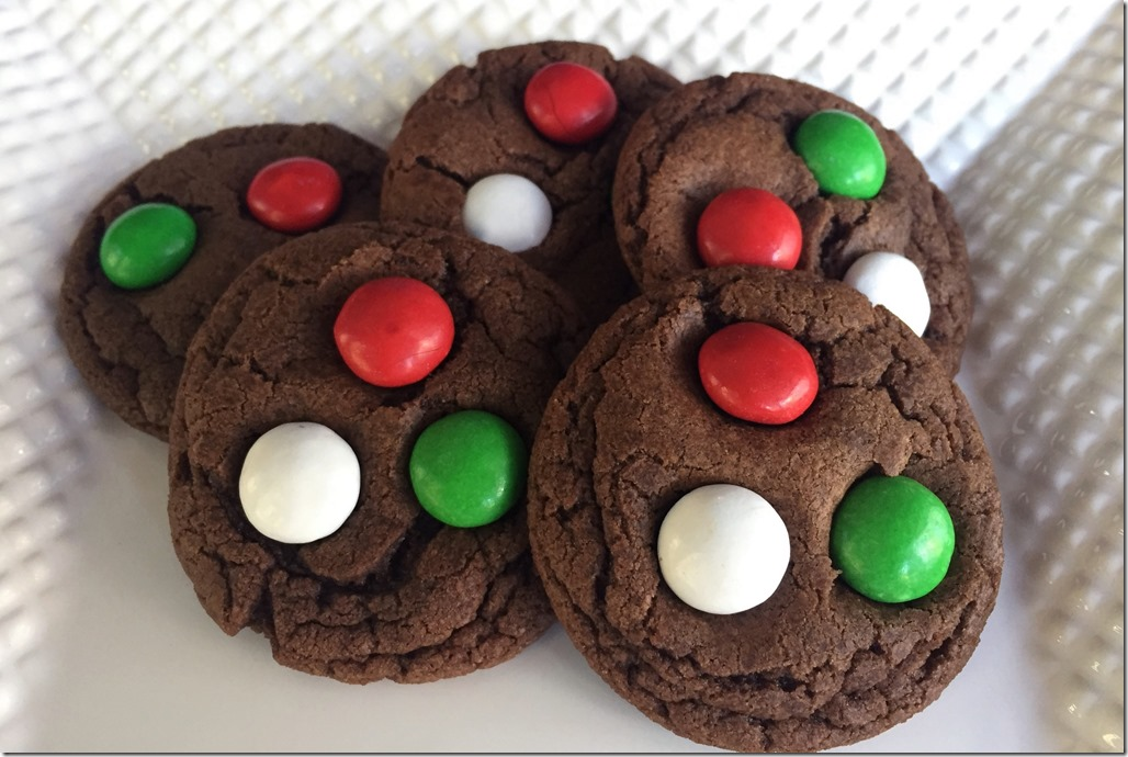 Mint Chocolate M&M's Cookies 1