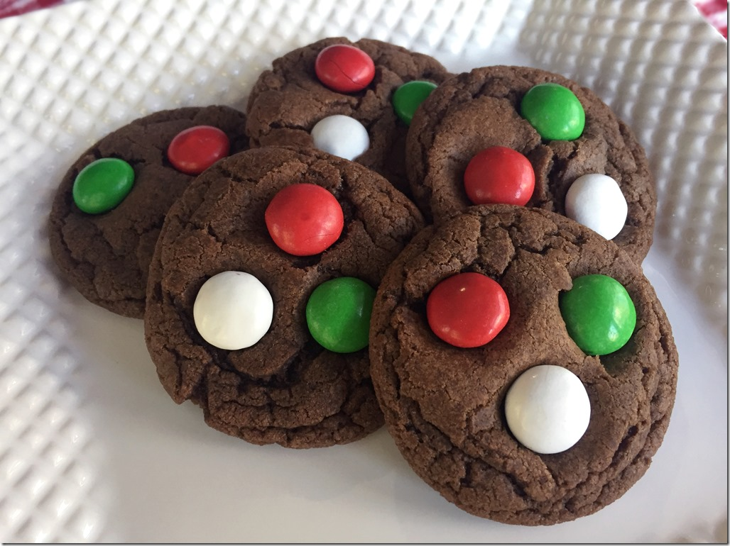 Mint Chocolate M&M's Cookies 2
