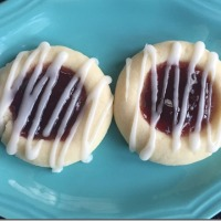 Eleventh Annual Twelve Days of Christmas Cookies: Raspberry Almond Thumbprints