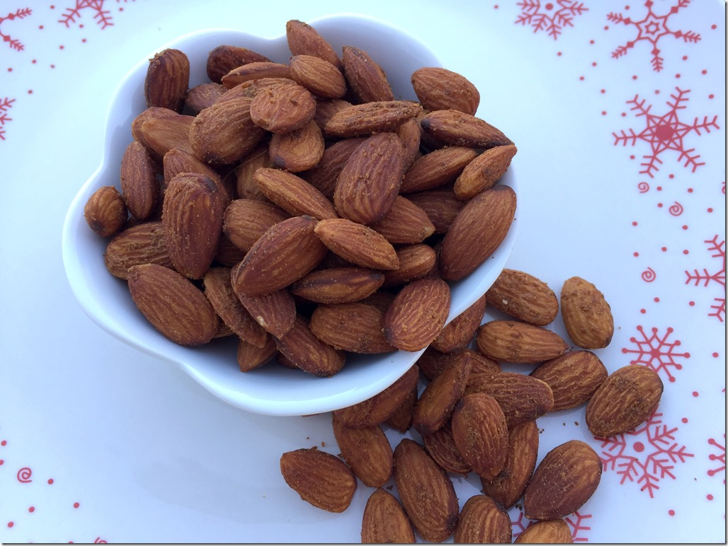 Slow Roasted Spiced Almonds 1