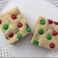 Twelve Days of Christmas Cookies: M&M Sugar Cookie Bars