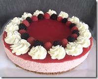 Sugar Free Raspberry No Bake Cheesecake 1