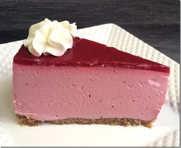 Sugar Free Raspberry No Bake Cheesecake 3